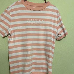 Pink + White Striped Tee